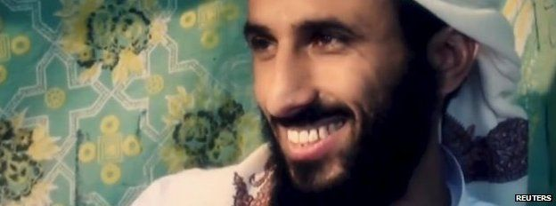 Yemeni Al-Qaeda chief Nasser al-Wuhayshi speaks at an unknown location in this file image grab