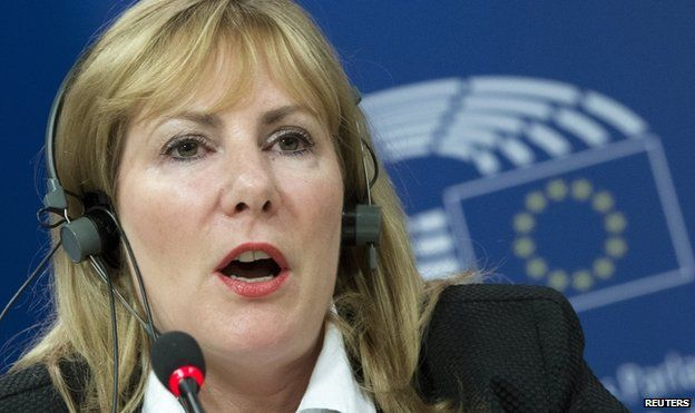 Janice Atkinson, former member of UKIP, attends a news conference at the European Parliament in Brussels, Belgium, 16 June 2015