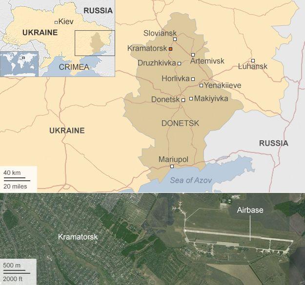 Map: Eastern Ukraine
