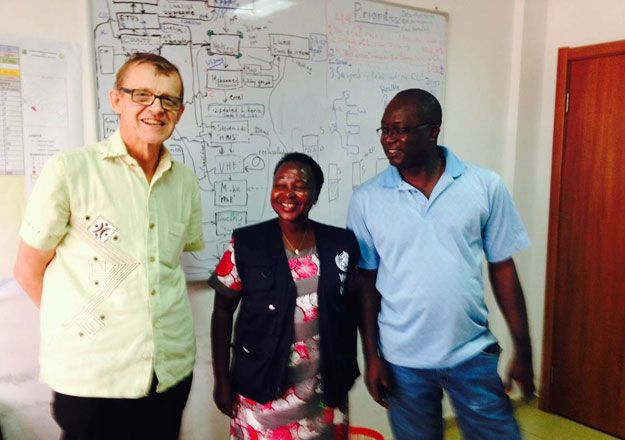 Hans Rosling, Margaret Lamuno and Luke Bawo