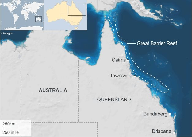 Map of Great Barrier Reef