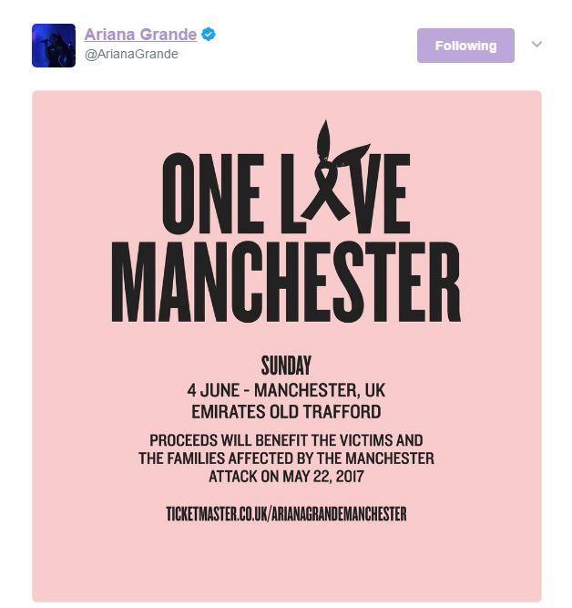 Ariana Grande's tweet