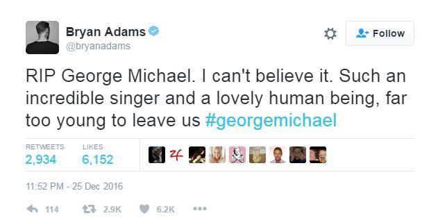Bryan Adams tweets
