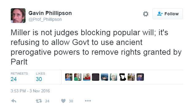 Durham University law professor tweets