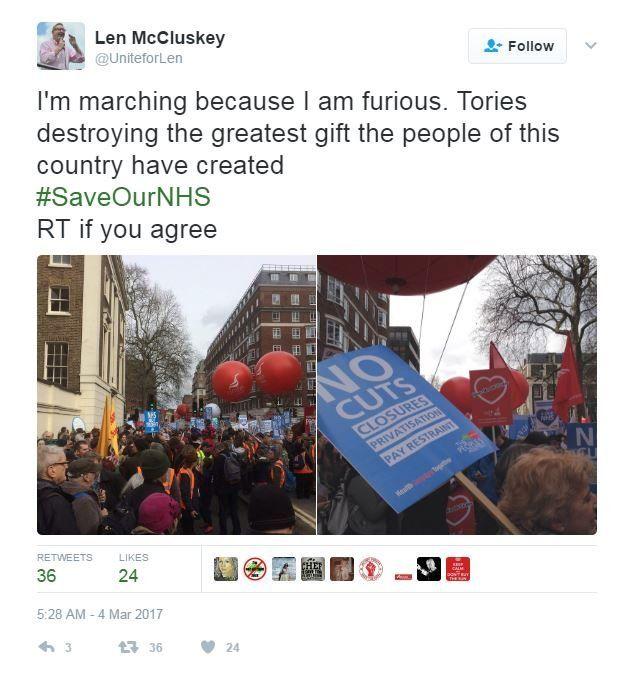 Len McCluskey Tweet