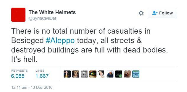 White Helmets tweet