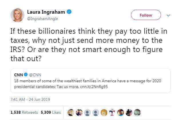 Laura Ingraham tweet