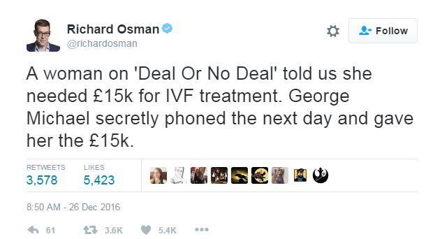 Richard Osman tweets