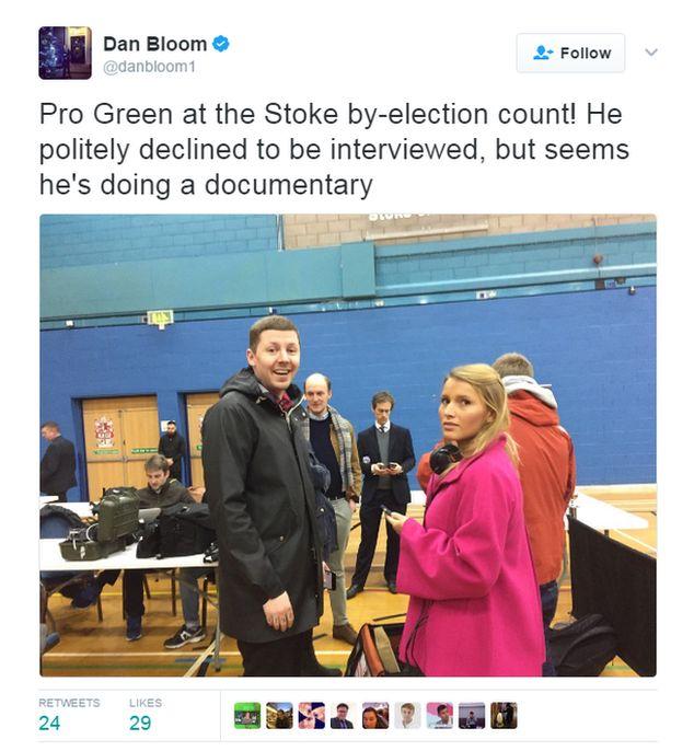 Tweet from Mirror journalist