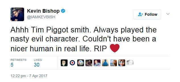Kevin Bishop tweet