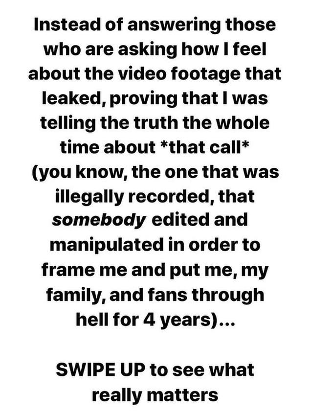 Taylor Swift's Instagram post
