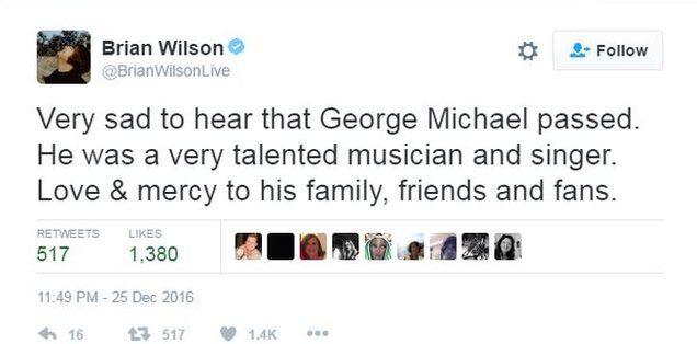 Brian Wilson tweets