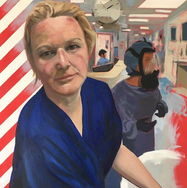 Painting of NHS heroes by Lisa Timmerman