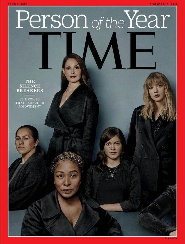 """Time magazine cover honouring """"The Silence Breakers"""" as collective Person of the Year"""