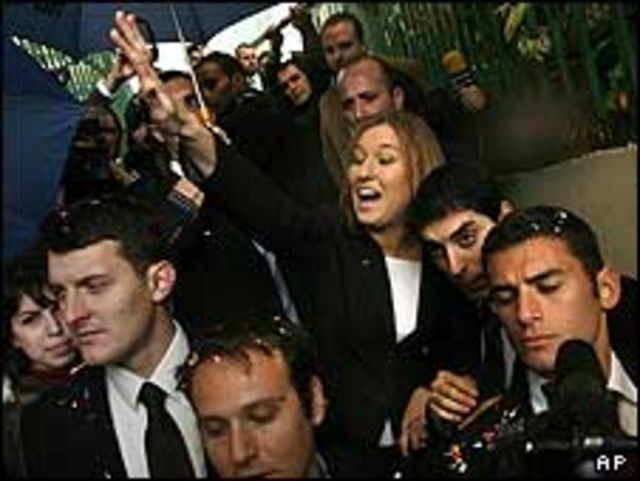ليفني أثناء حملتها الانتخابية