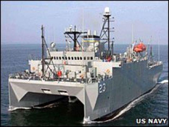 Mỹ nói tàu Impeccable đang làm nhiệm vụ thám sát địa hình lòng biển ngoài hải phận quốc tế