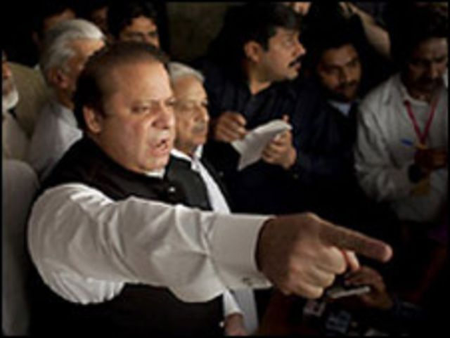 Nawaz Sharif, líder opositor