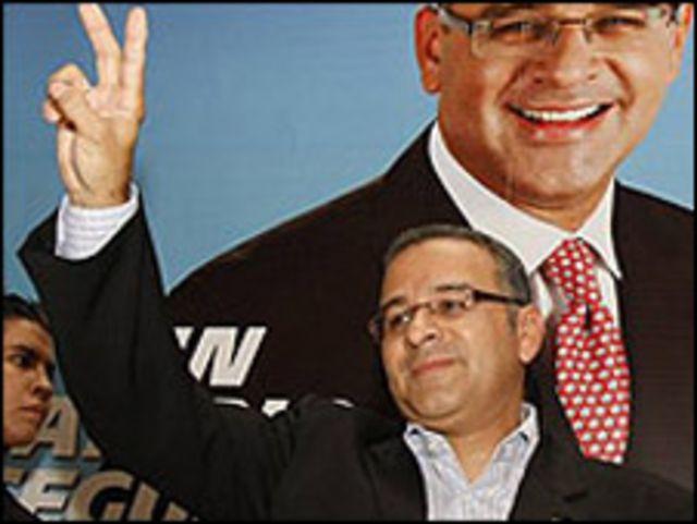 Mauricio Funes, ganador de las elecciones en El Salvador.