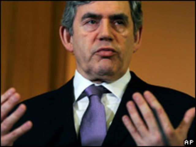 Gordon Brown, primer ministro británico