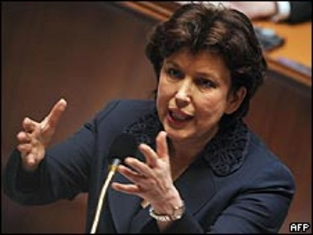 Roselyne Bachelot, ministra de Salud de Francia