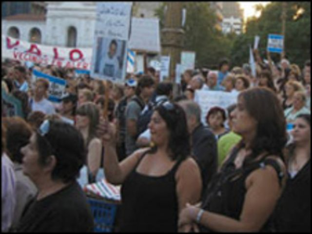 Manifestantes en Buenos Aires