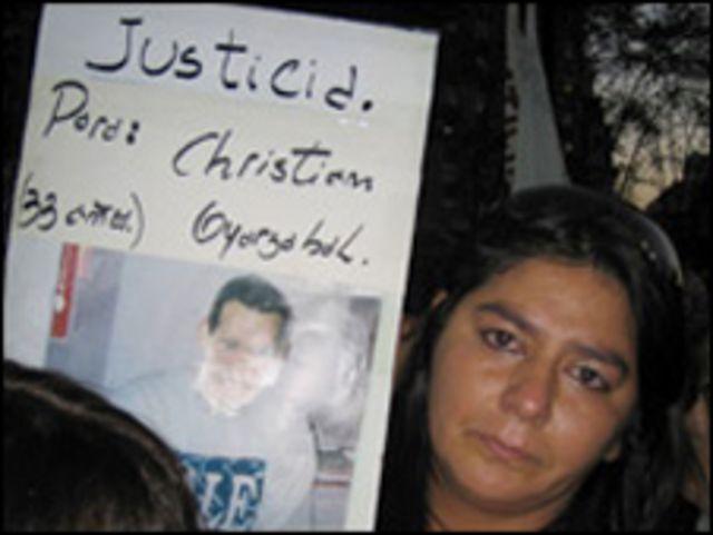 Una manifestante en Buenos Aires