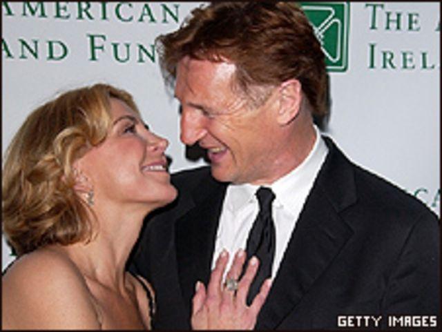 Natasha Richardson y Liam Neeson. Foto de archivo: 2008