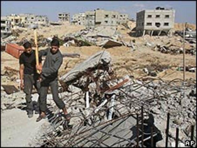Destrozos tras la guerra en la Franja de Gaza.