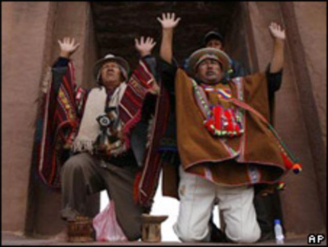 Cumbre indígena en Bolivia