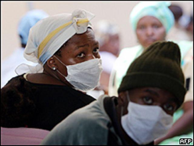 Pacientes con TB en Sudáfrica