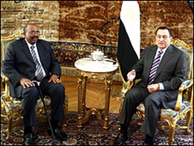 Omar al-Bashir y Hosni Mubarak