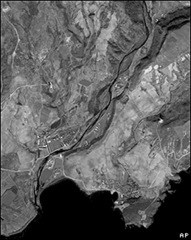 Imagen aérea de una base de lanzamiento.