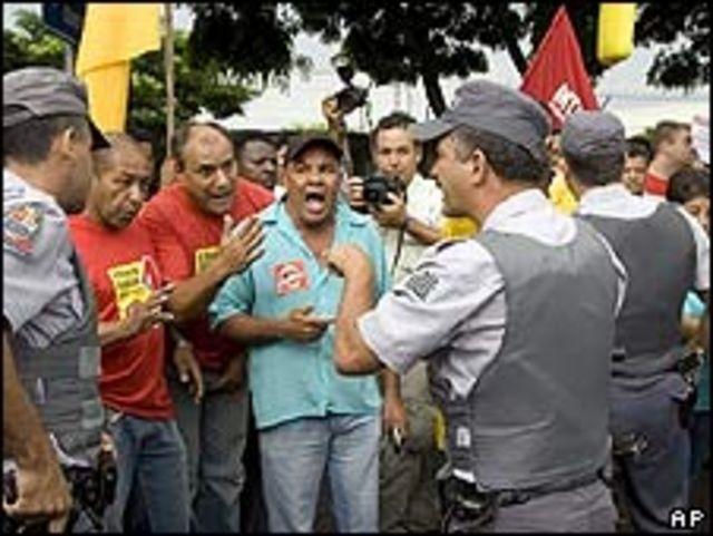 Protesta en Brasil por desempleo