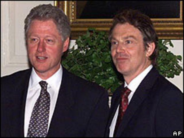 Bill Clinton y Tony Blair