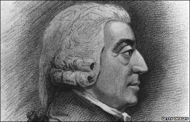 Grabado de Adam Smith