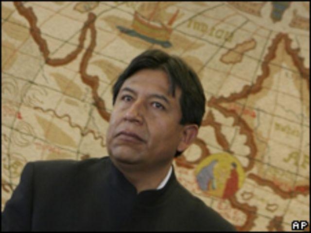 David Choquehuanca, ministro boliviano de Relaciones Exteriores