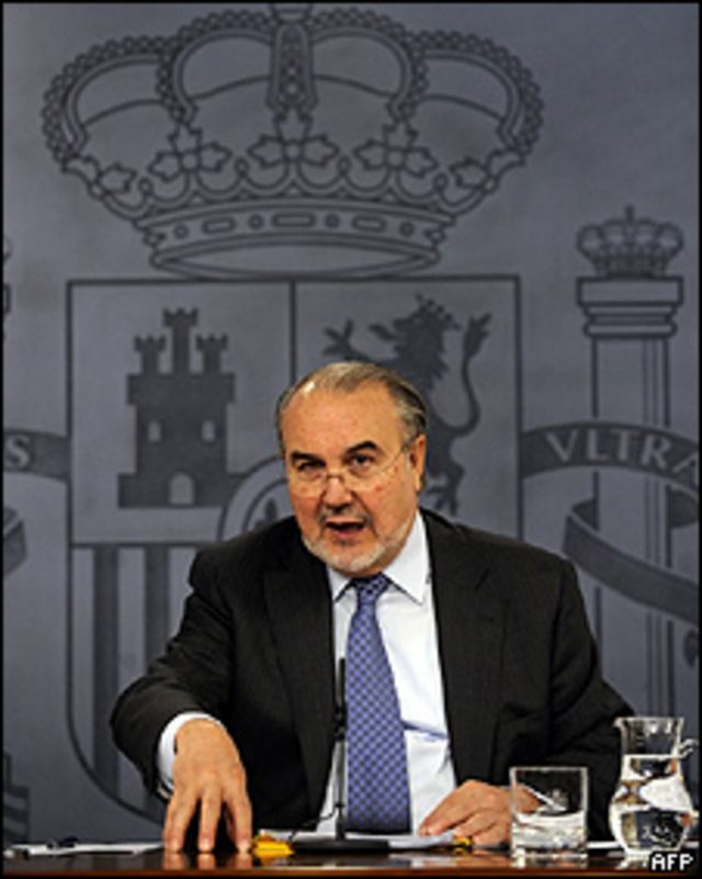 Pedro Solbes, ministro de Economía de España