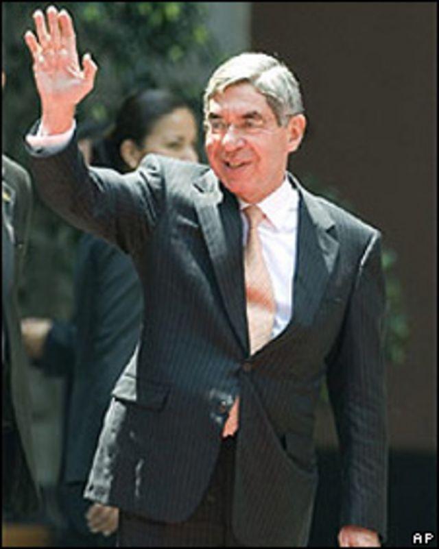 El presidente de Costa Rica, Oscar Arias