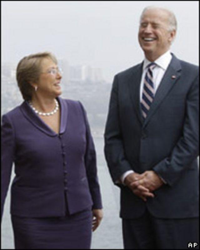El vicepresidente de EE.UU. y la presidenta de Chile