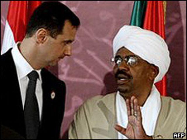 Al-Bashir, con el presidente de Libia.