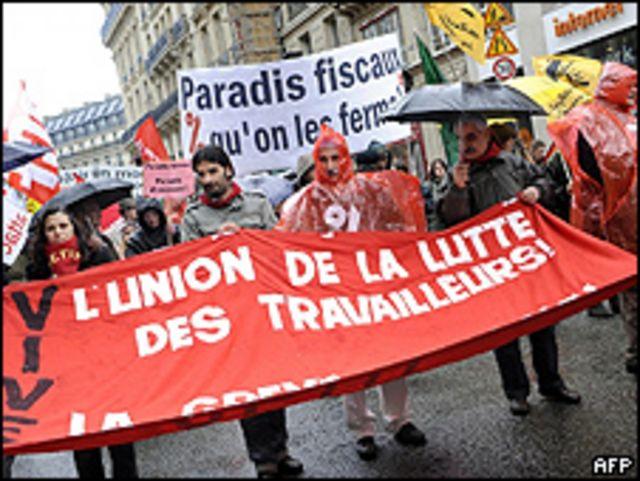 Manifestación del 28 de marzo en París