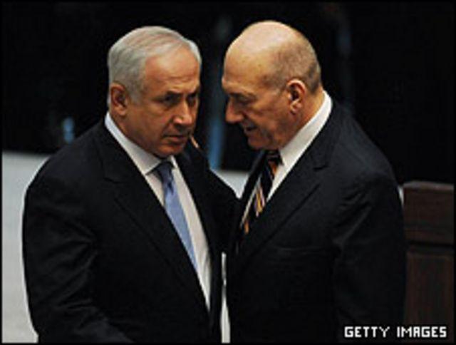 بنیامین نتانیاهو اصلی ترین منتقد سیاستهای دولت اهود اولمرت بود