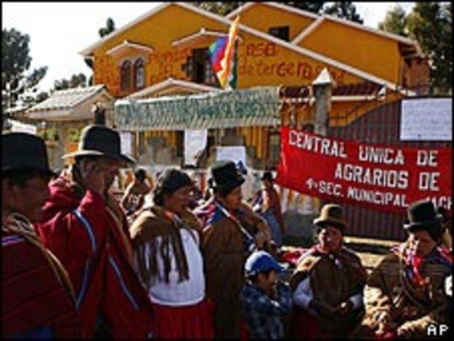 simpatizantes bolivianos.