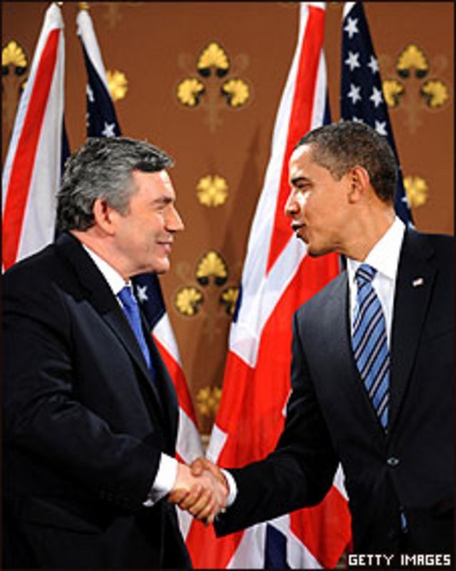 Obama y Brown, en Londres