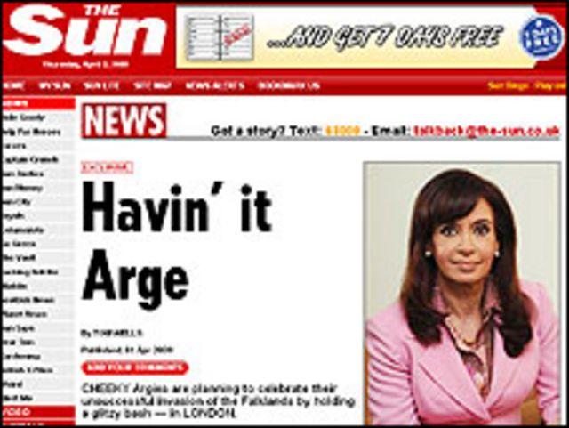 Fragmento de versión en línea del artículo de The Sun
