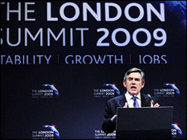 Gordon Brown en la cumbre del G-20