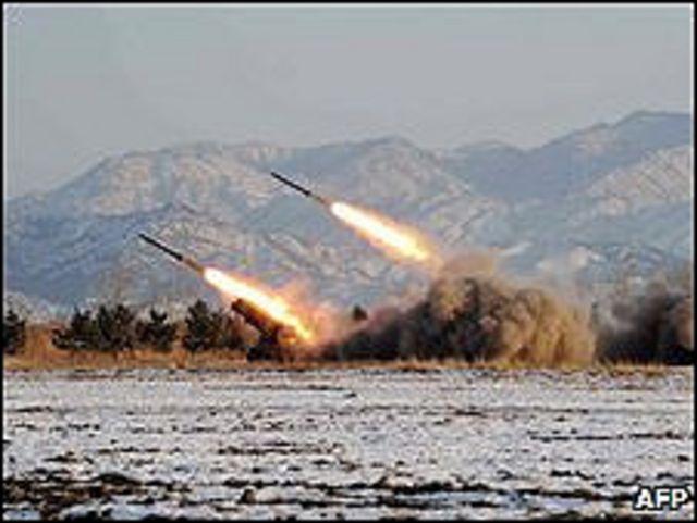 Imagen sin fecha de prueba de misil de Corea del Norte.