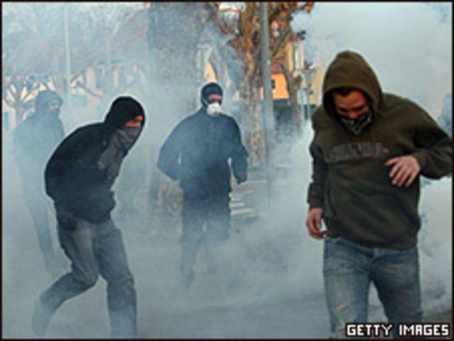 Protestas contra la OTAN en Estrasburgo, Francia (Foto: 02/04/2009)