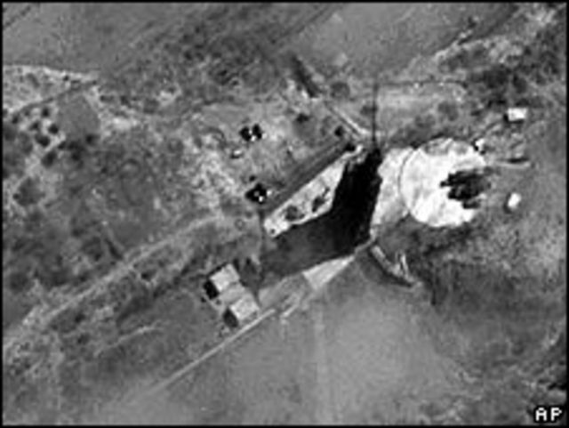 Imagen satelital del sitio de lanzamiento en Corea del Norte