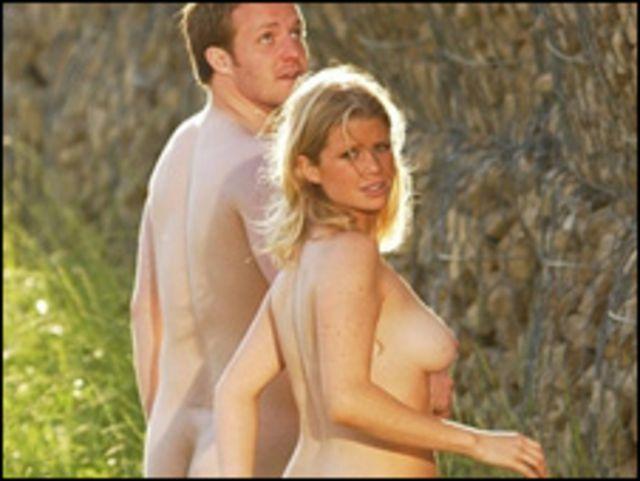 Pareja nudista